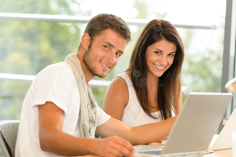 Download High-school Pupils Using Laptop For School Project Stock Photo - Image of high, laptop: 26602240