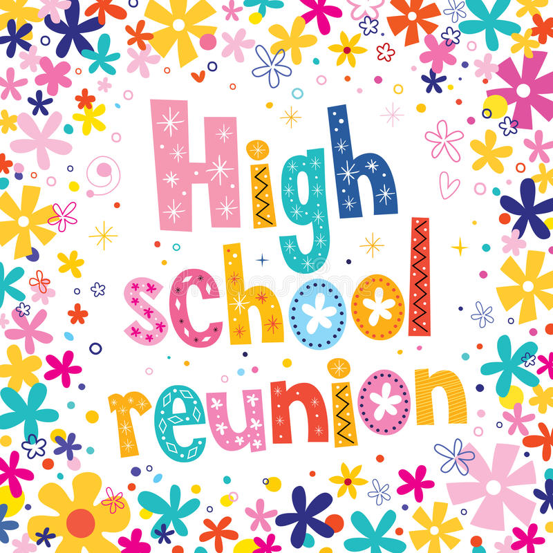 High school reunion vector illustration