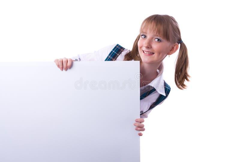 High School sênior com quadro de avisos. imagem de stock