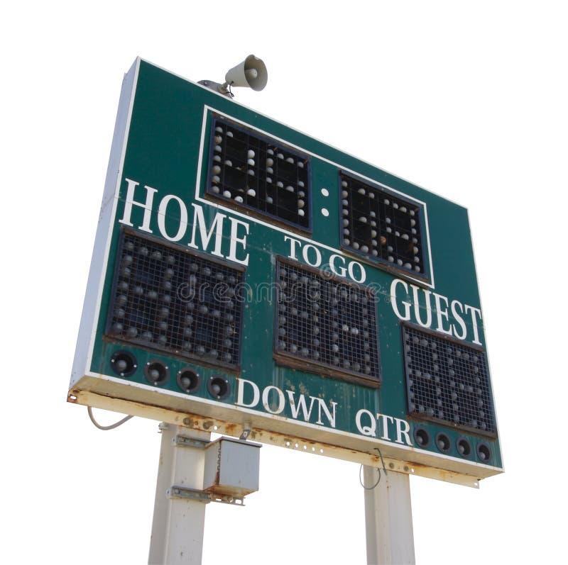 High School Score Board Stock Photos
