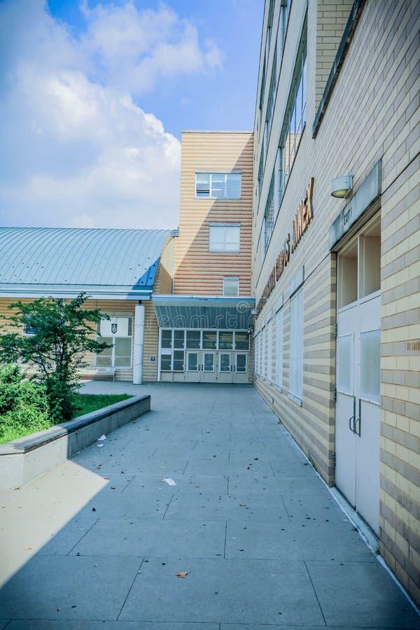 High School secundaria de Bronx en NYC imagenes de archivo