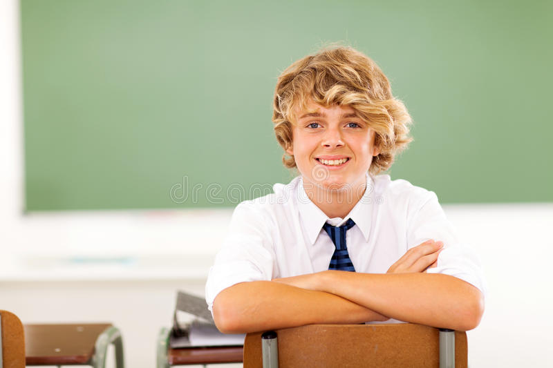 High school student royalty free stock photo