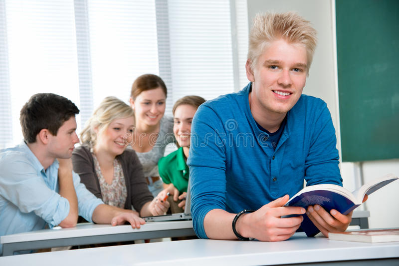 Download High school students stock image. Image of desk, friends - 19140789