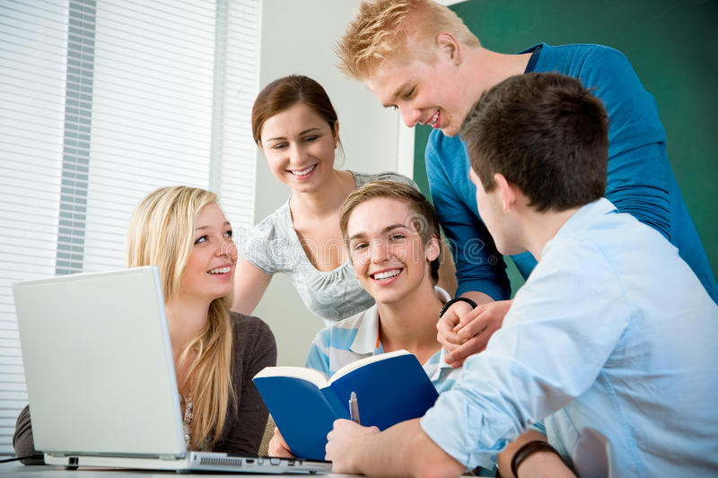 High school students stock image