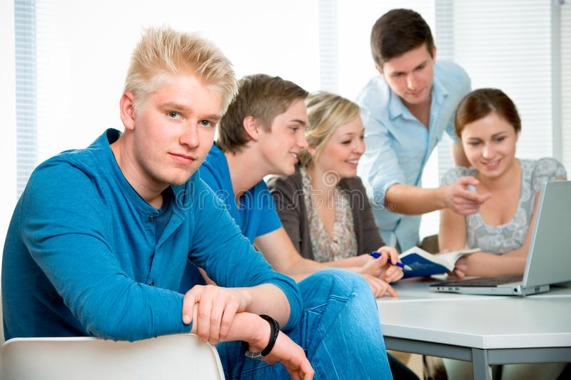 Download High school students stock image. Image of laptop, friends - 19145865