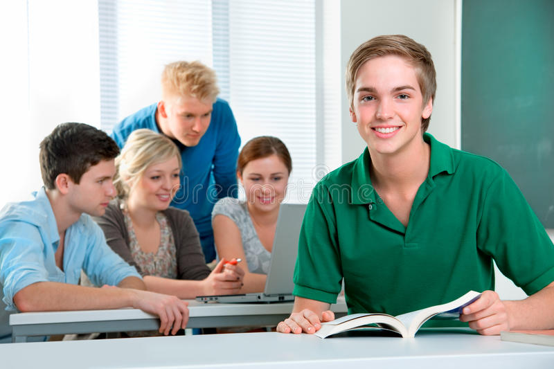 Download High-school students stock image. Image of indoors, classmate - 19475825