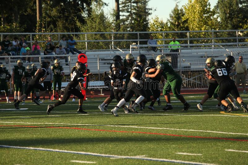High school Tackle football 3A youth royalty free stock photography