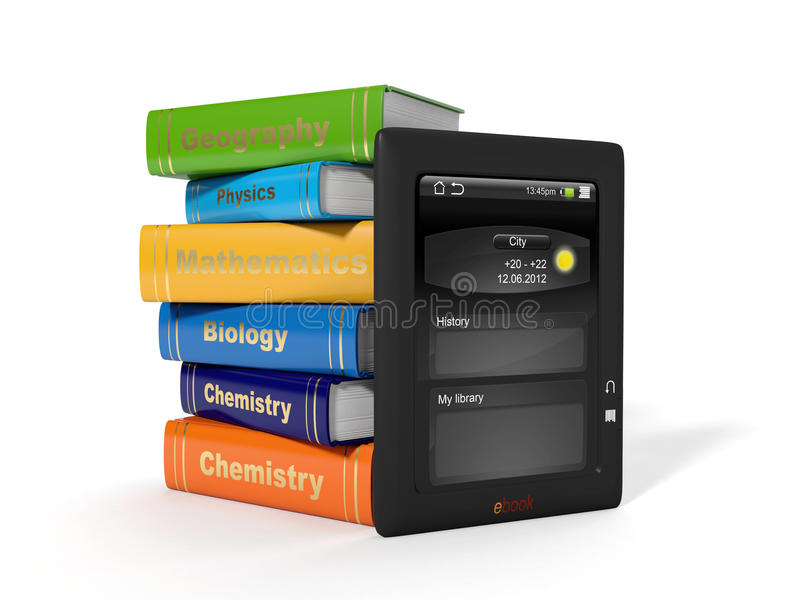 High School Textbooks Royalty Free Stock Photography