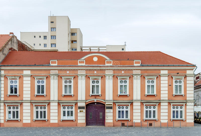 High school on Union Square in Timisoara, Romania stock images