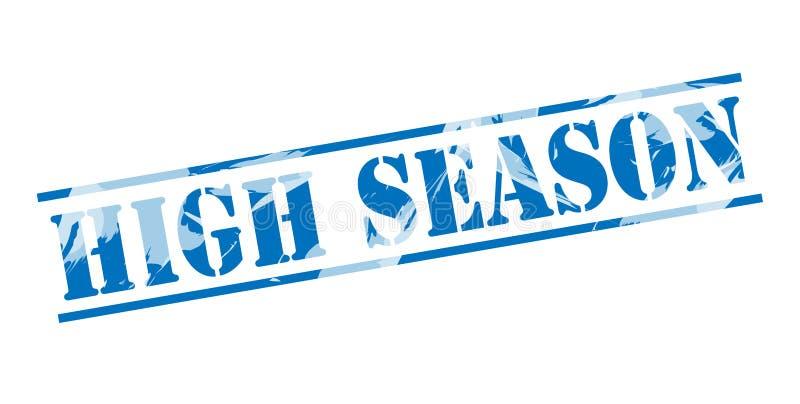 High season blue stamp stock illustration