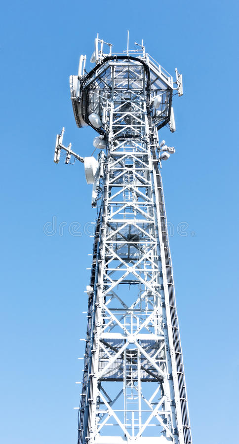 Download Communication tower stock photo. Image of base, tall - 30268100