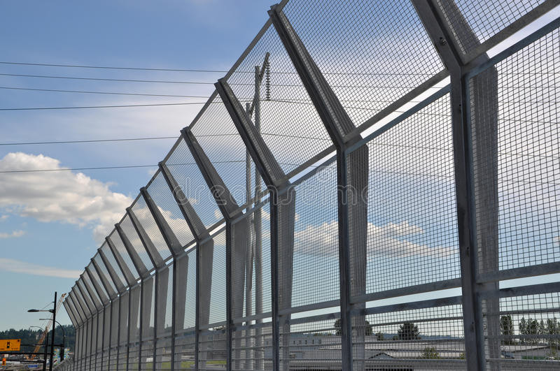 High Security Fence. On Bridge royalty free stock images
