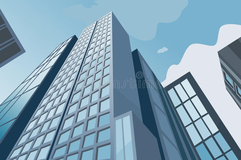 High skyscrapers royalty free illustration