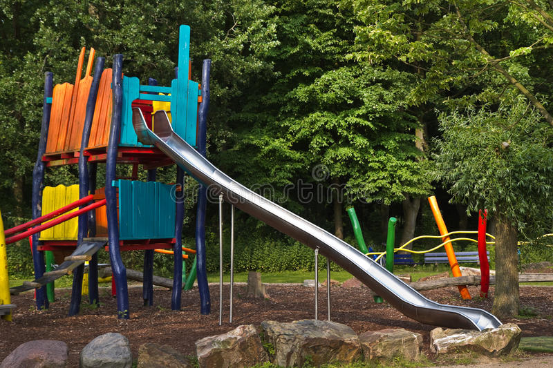 Download High Sliding Construction In Public Stock Image - Image: 26006287