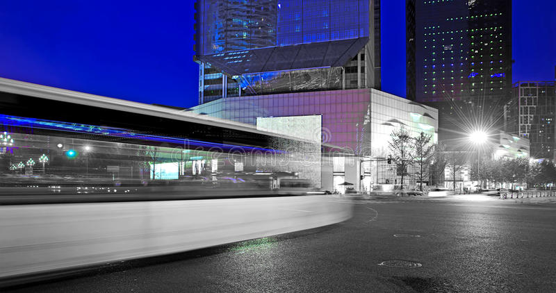 Download High Speed And Blurred Bus Light Trails Stock Image - Image: 21884243