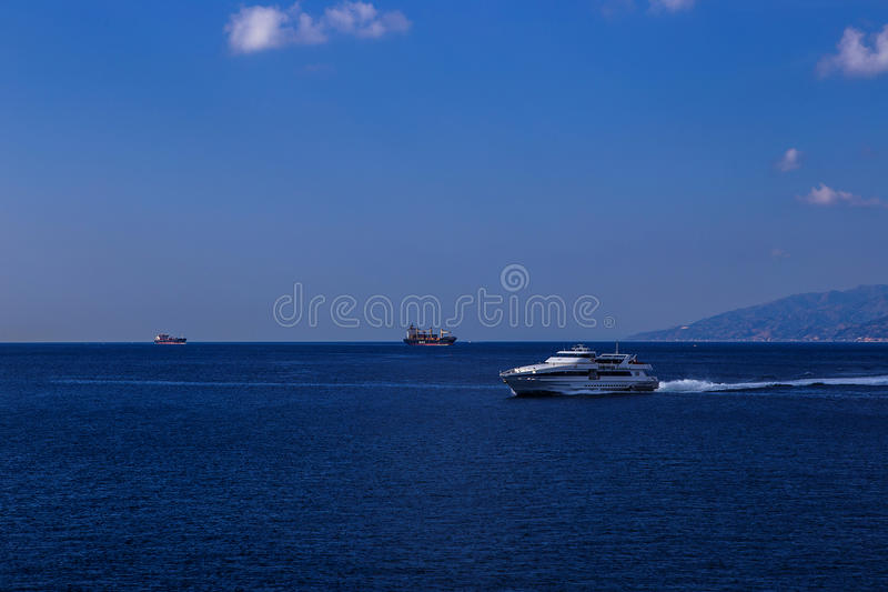 High speed boat stock image