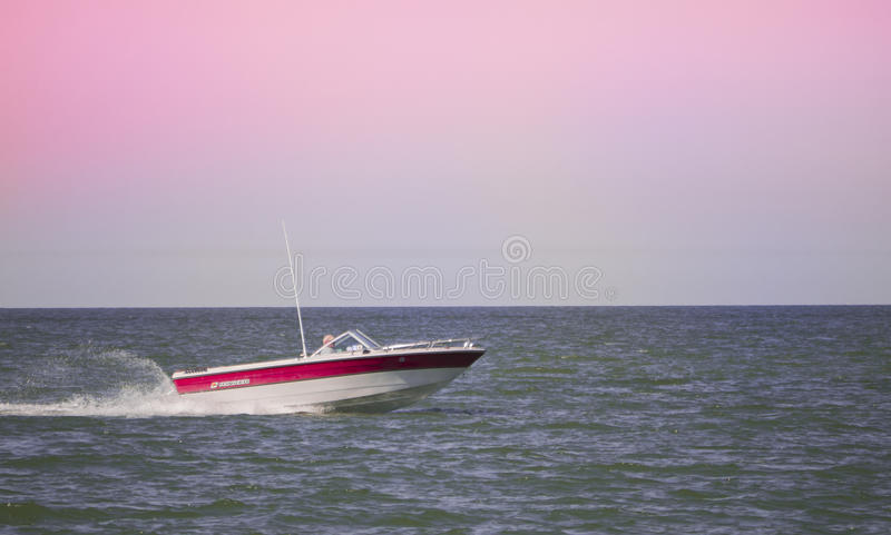 High-speed boat stock image