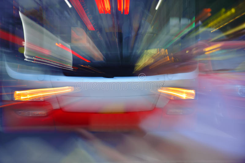 High speed bus radiant rays royalty free stock photos
