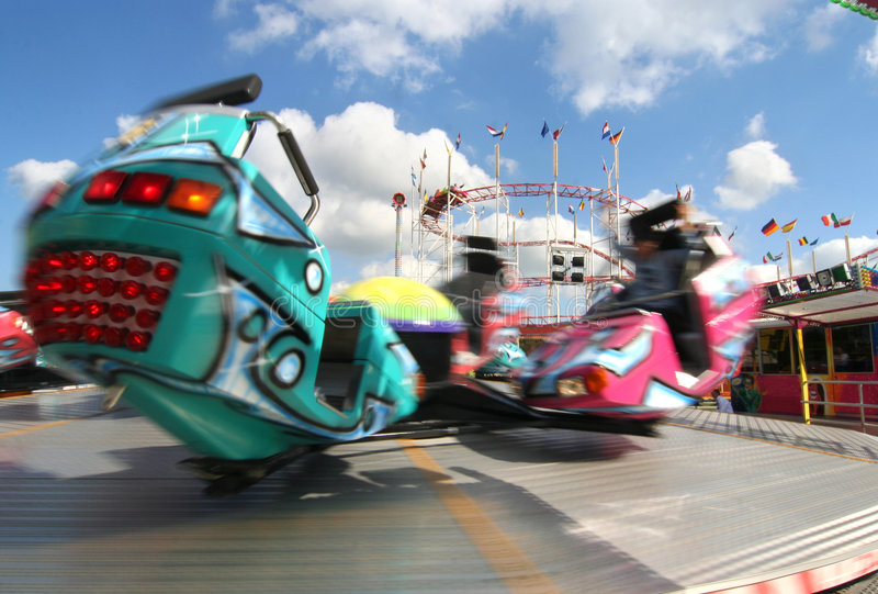 High Speed Carousel royalty free stock photography