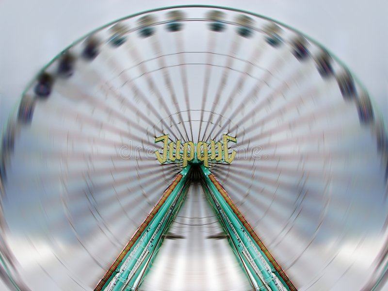 High Speed Ferris Wheel stock image