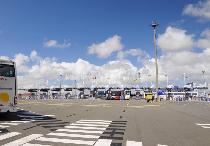 Download High Speed Ferry Terminal - Gate Calais France Editorial Photography - Image: 15815892