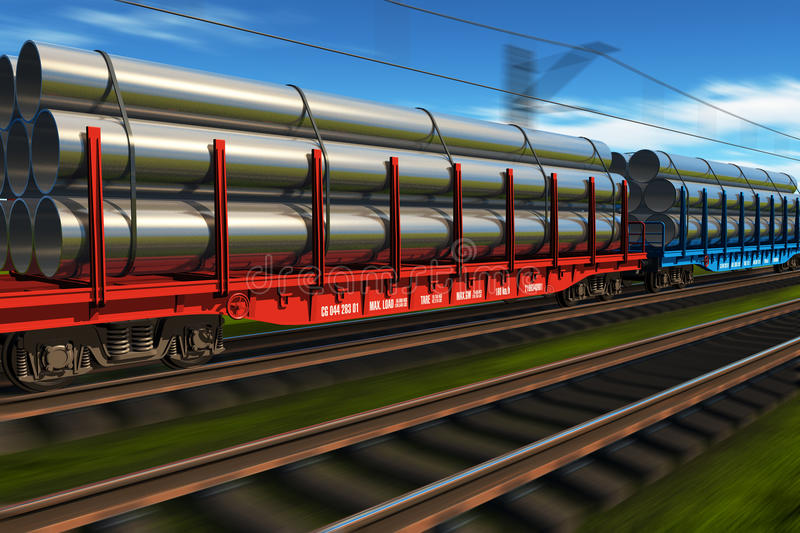 High speed freight train royalty free illustration