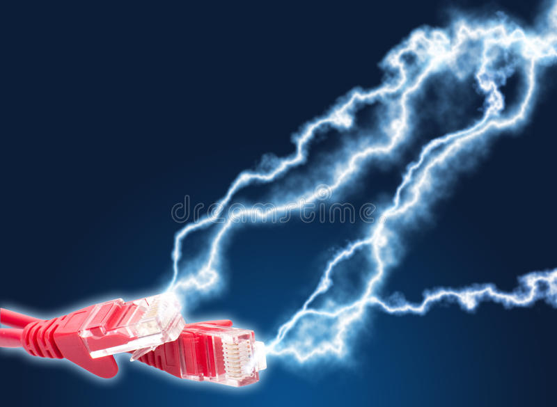 High speed internet stock image