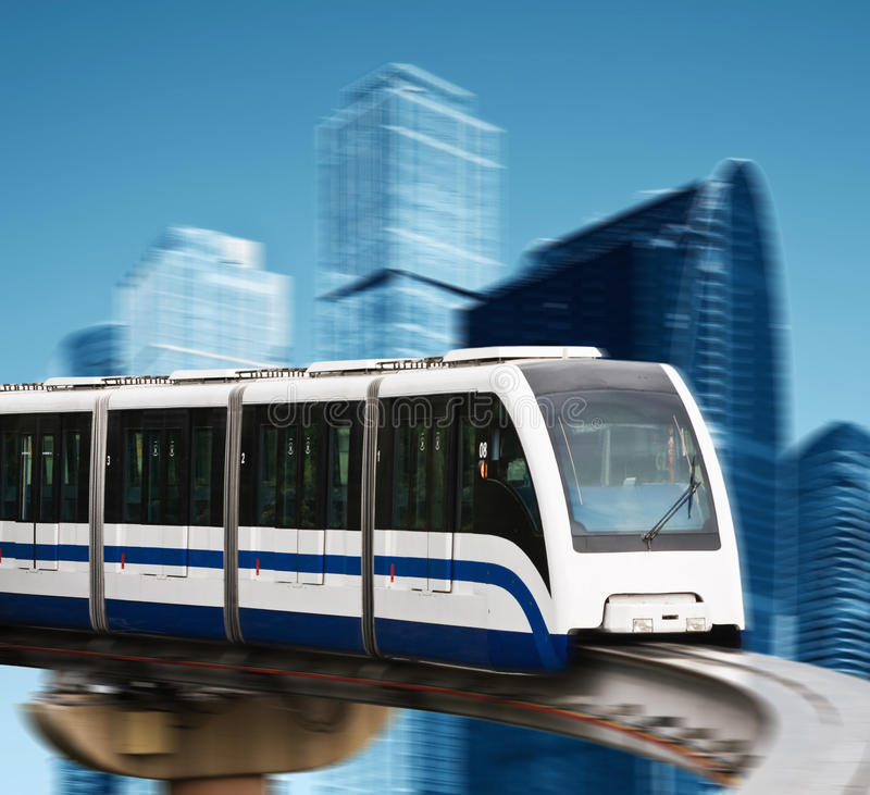High speed monorail royalty free stock photo