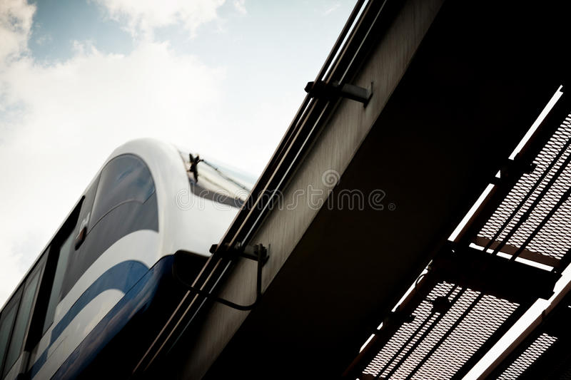 High speed monorail train. stock images