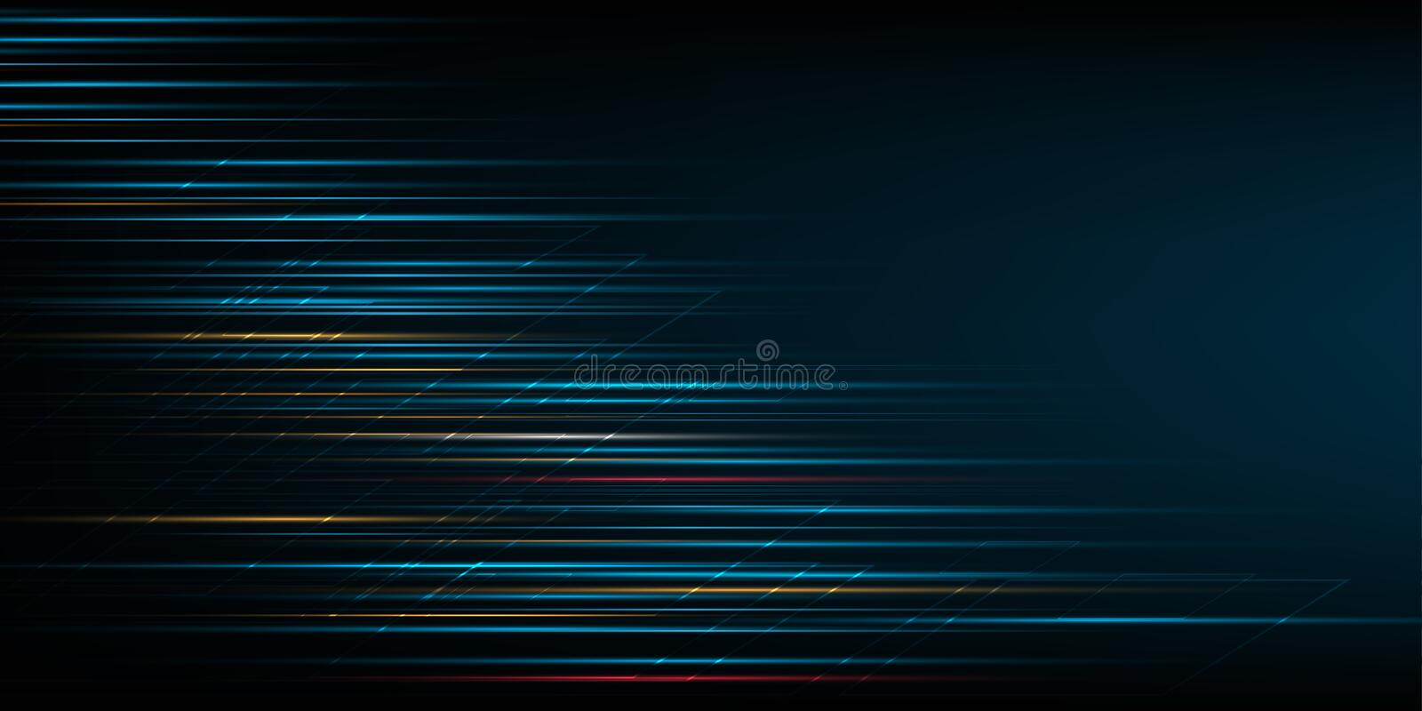 High speed movement design. Hi-tech. Abstract technology background. Vector illustration. vector illustration