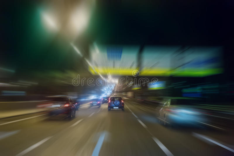 Download High-speed Movement At Night Stock Photo - Image: 83715224