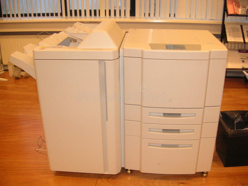 High speed printer. High speed and high volume printer stock images
