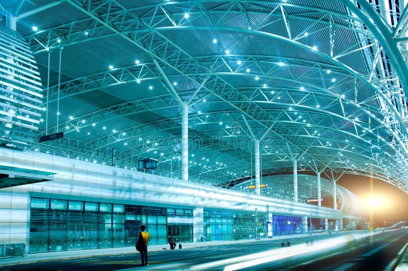 High-speed rail station stock image