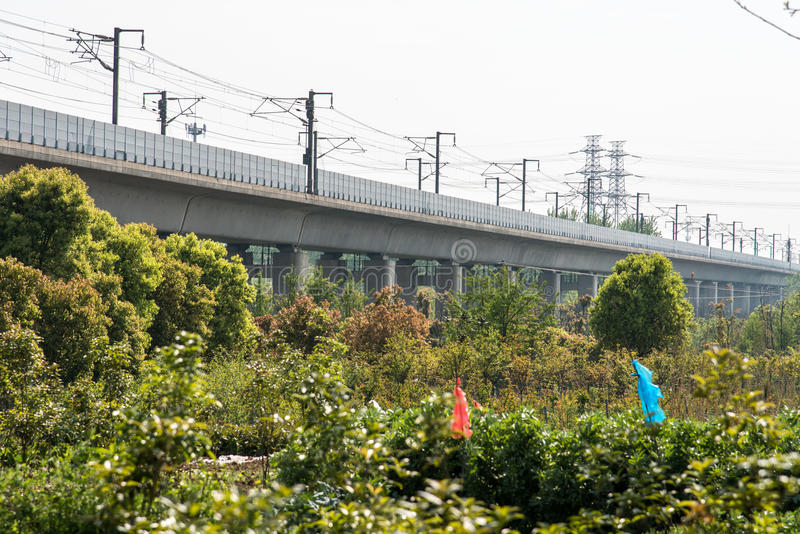 High speed railway stock images