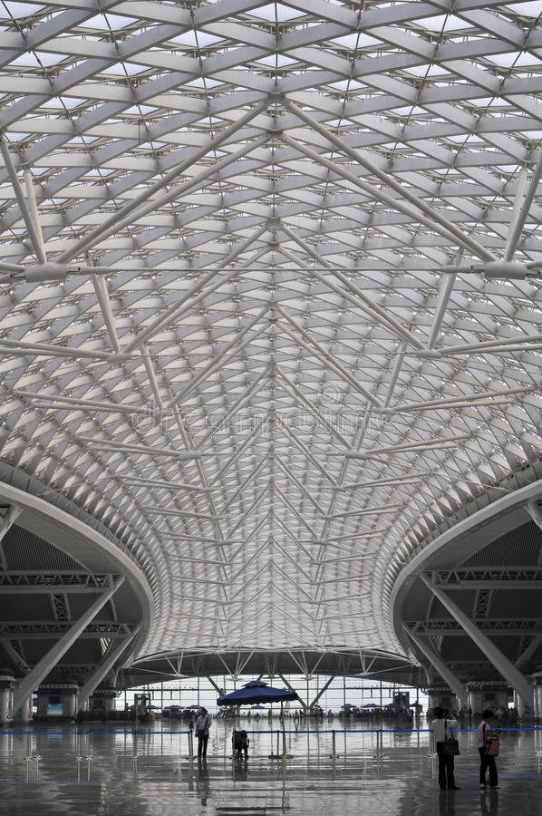 High speed railway train station roof in China royalty free stock photo