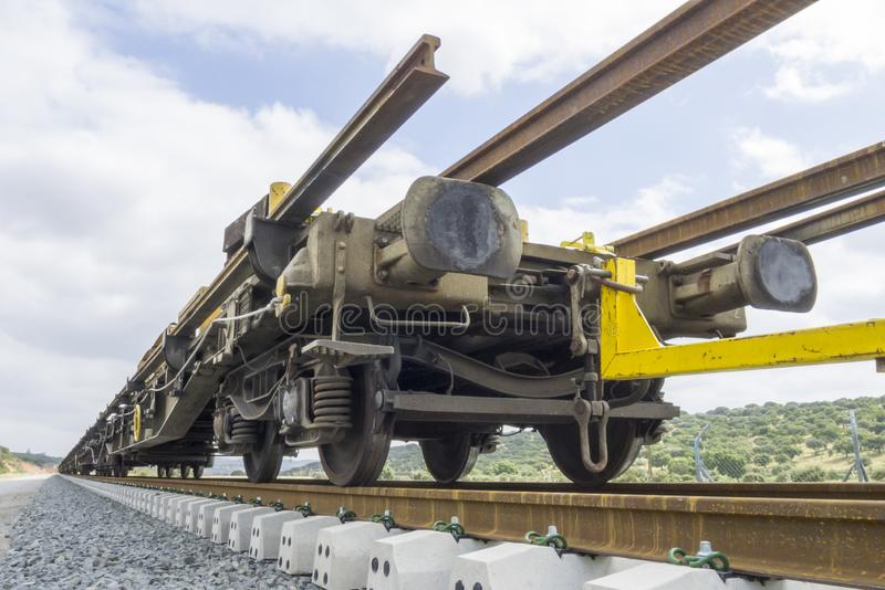 High speed railways. Under construction stock images