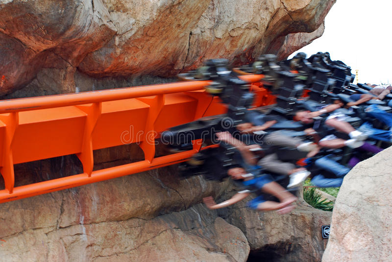 High Speed Roller Coaster Ride stock photography