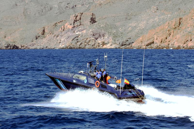 Fast boat of the Spanish Customs Service. stock image