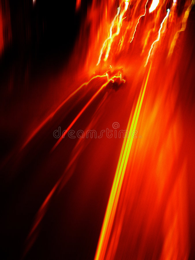High speed tail lights stock image