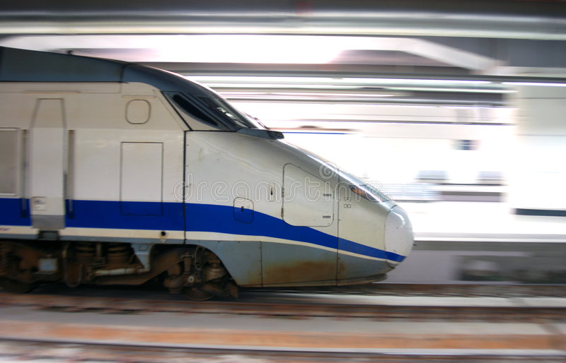 High speed train stock images