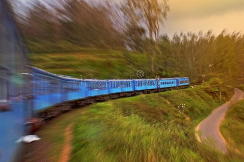 High speed train from asia. This is Image is high speed train from asia.Sri Lankan Train.Ella train royalty free stock photography