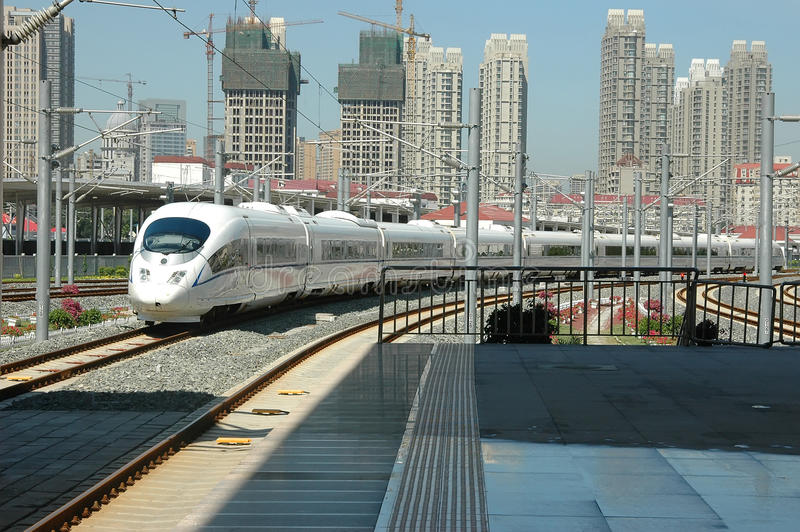 High speed train of China royalty free stock photos