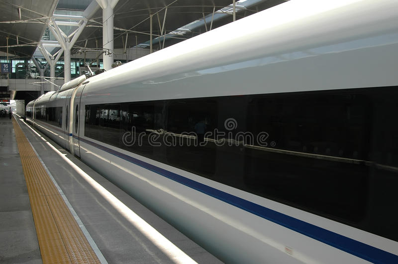 High speed train of China stock photos