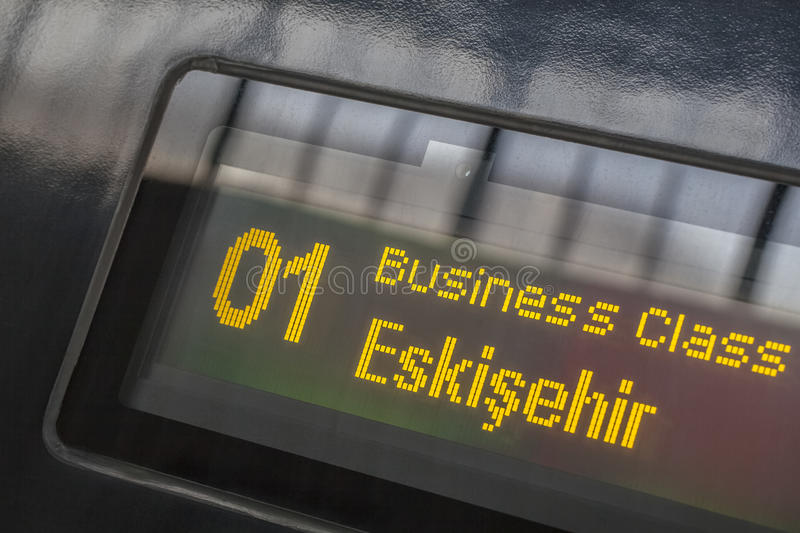 Download High Speed Train Destination Board Stock Image - Image: 30781981