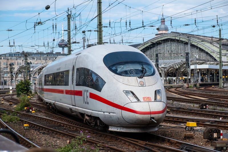 High-speed train ICE T of German railway company Deutsche Bahn. royalty free stock images