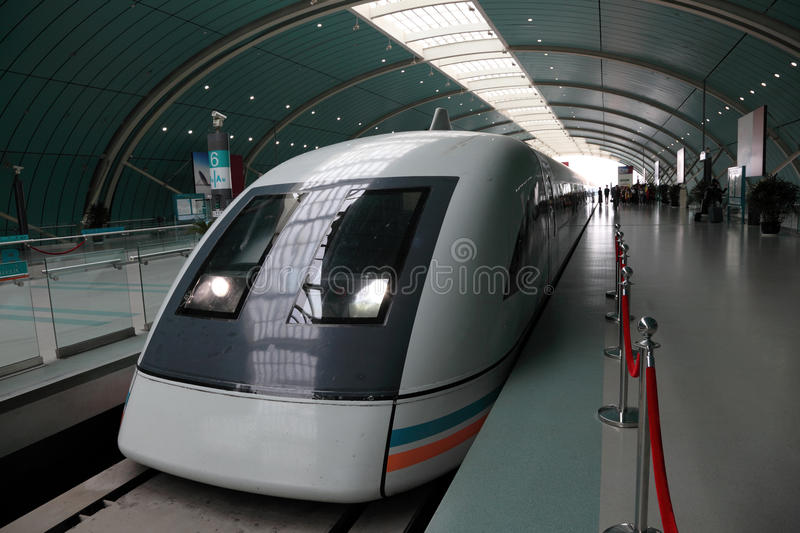 High speed train in Shanghai stock images