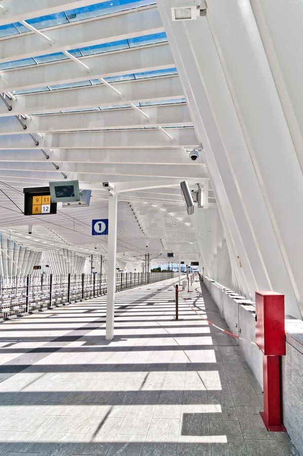 High Speed Train Station in Reggio Emilia, Italy stock photos