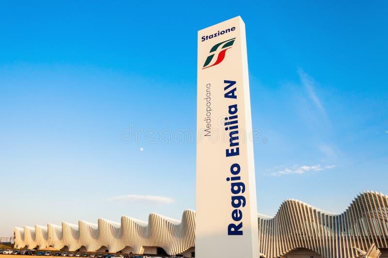 High Speed Train Station in Reggio Emilia, Italy stock photo