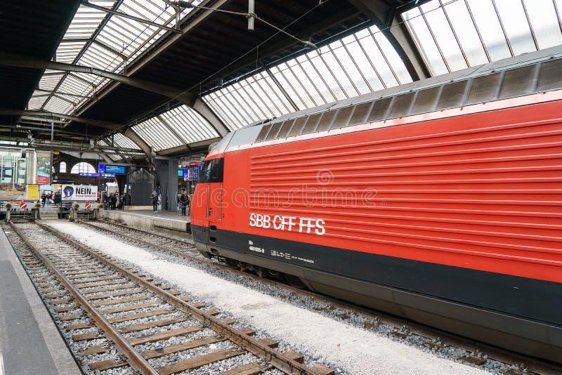 High Speed Train At Zurich HB Train Station Editorial