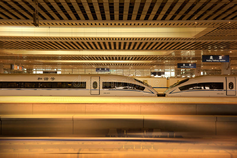High-speed Trains Stock Image